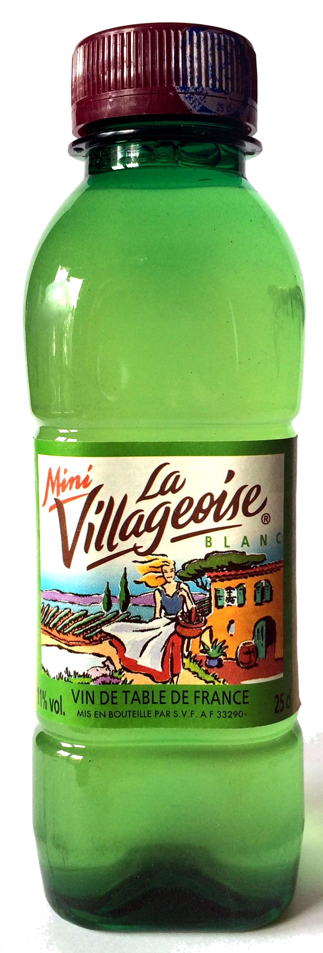 Vin blanc sec la villageoise 25 cl for Vin blanc sec cuisine