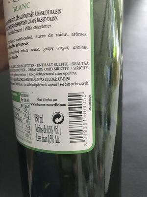 Grain d'envie Merlot sans alcool - Nutrition facts - fr