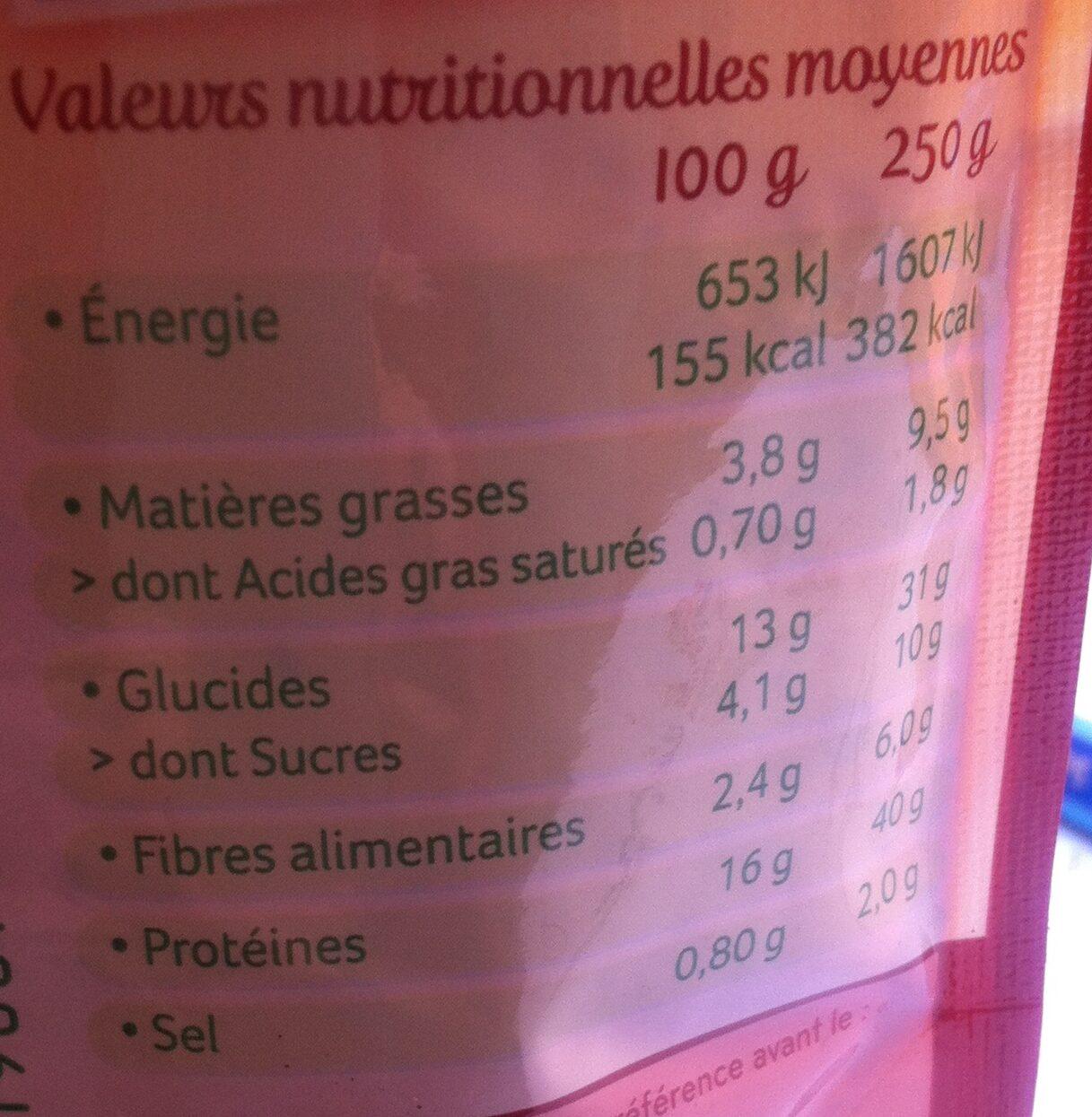 Haché végétal façon bolognaise au soja - Informations nutritionnelles - fr