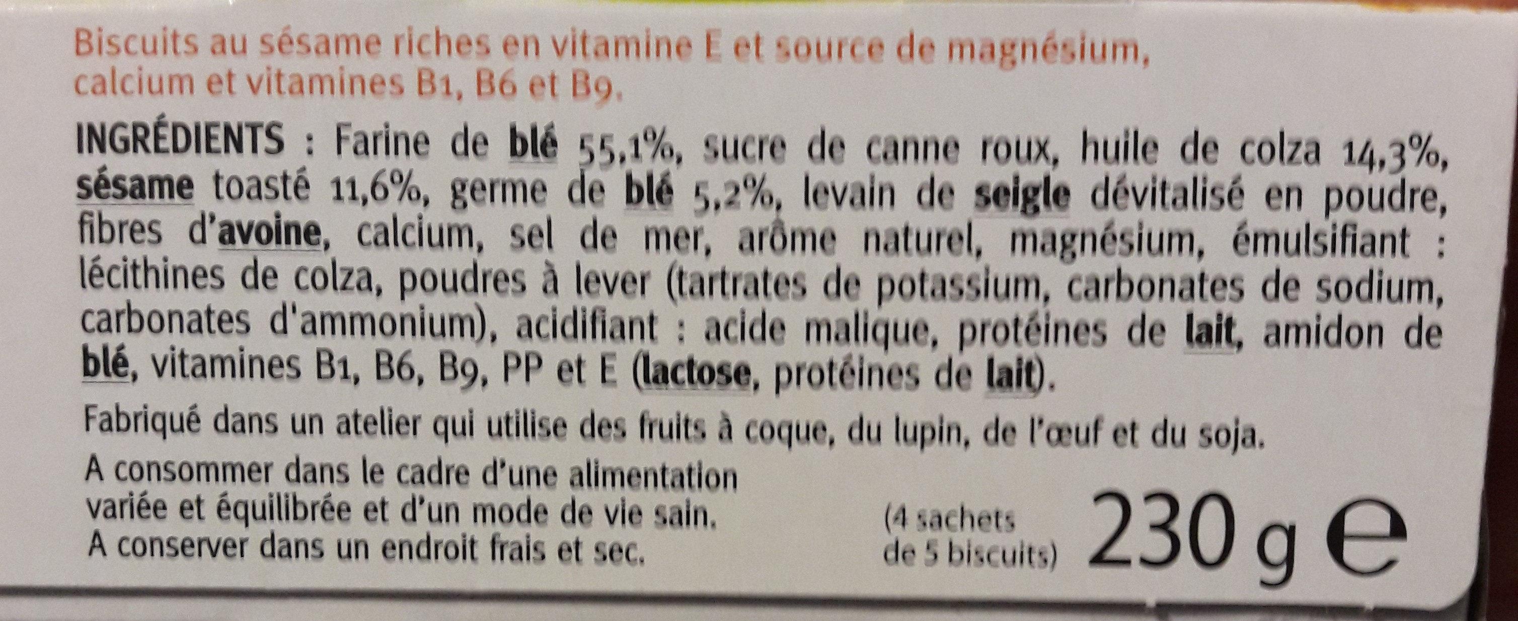 Gerblé sésame - Ingredientes