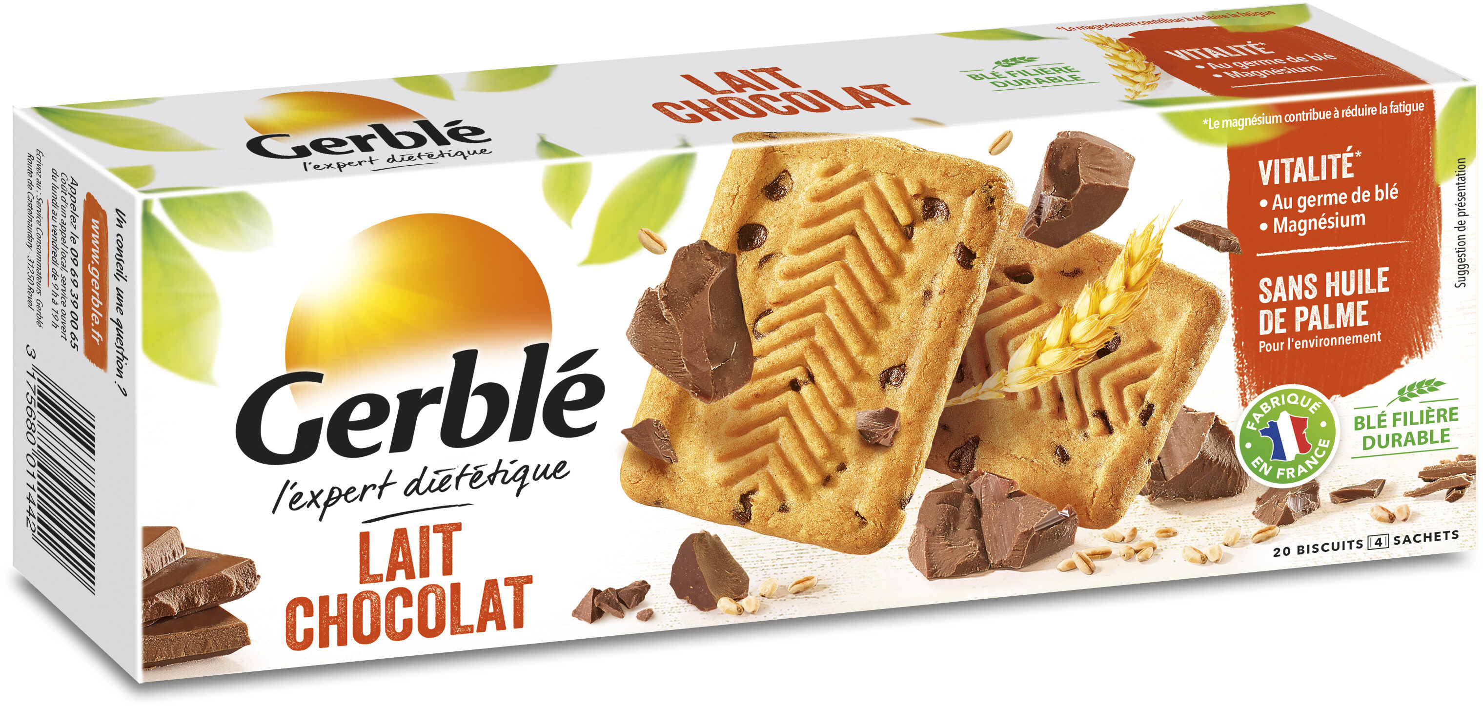 Biscuit lait chocolat - Product - fr