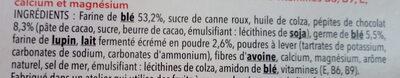 Biscuit lait chocolat - Ingrédients - fr
