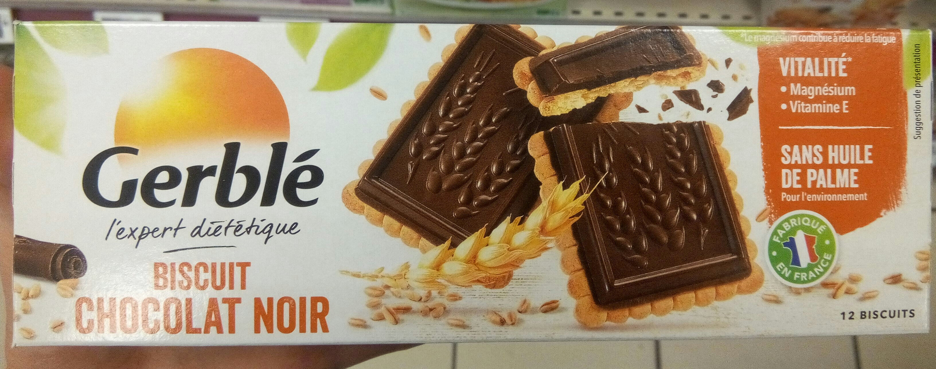 Biscuit Chocolat noir intense - Product - fr
