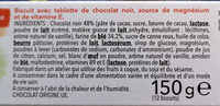 Biscuit Chocolat noir - Ingredients - fr