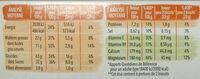 Biscuit choco noir intense - Voedingswaarden - fr