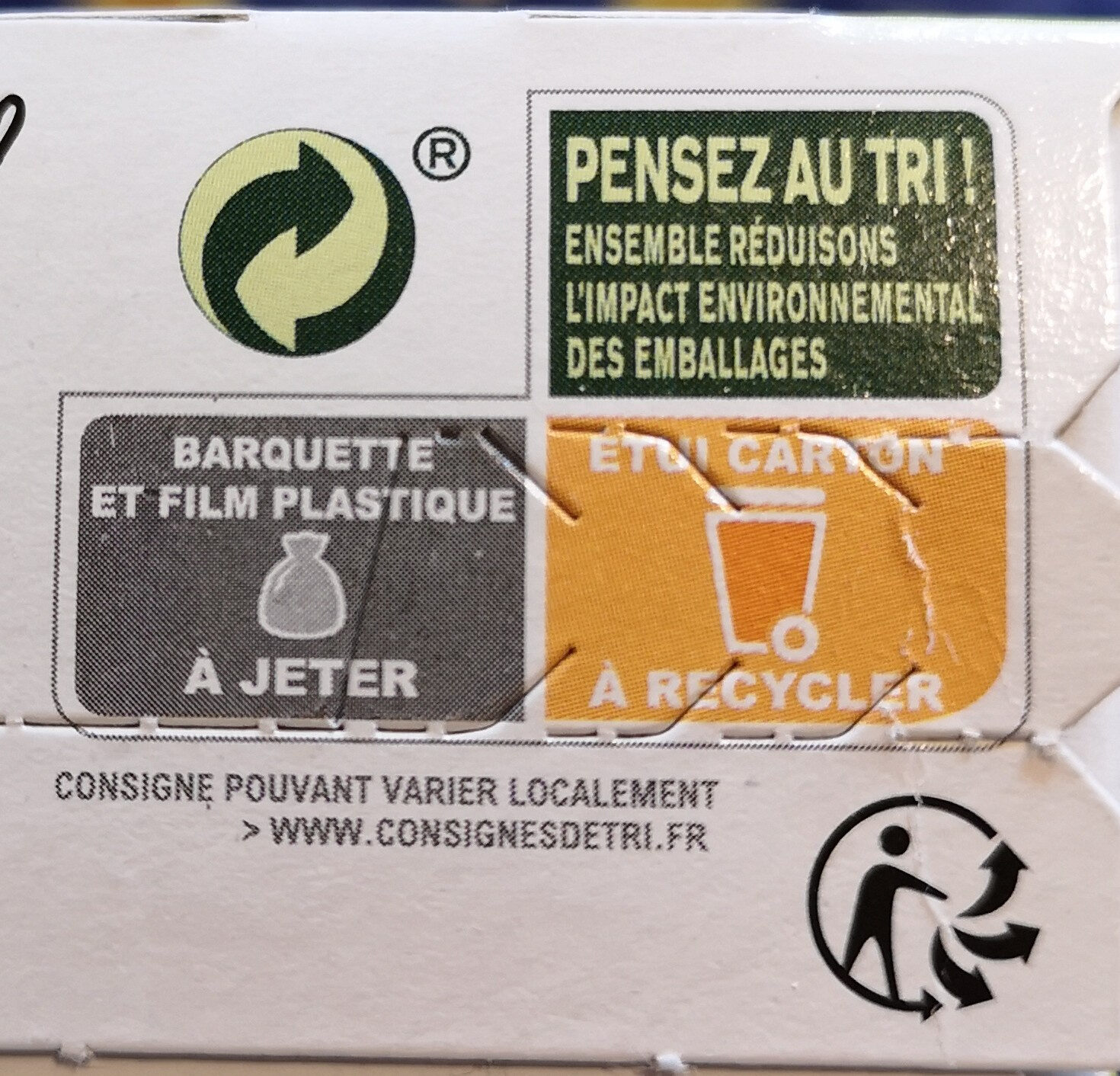 Biscuit Chocolat noir - Recycling instructions and/or packaging information - fr