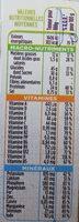 Repas minceur complet barres saveur chocolat - Informations nutritionnelles - fr