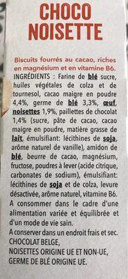 Choco Magnésium - Ingrédients - fr