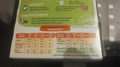 Choco Magnésium - Informations nutritionnelles - fr