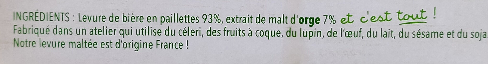 Levure de bière - Ingrediënten - fr