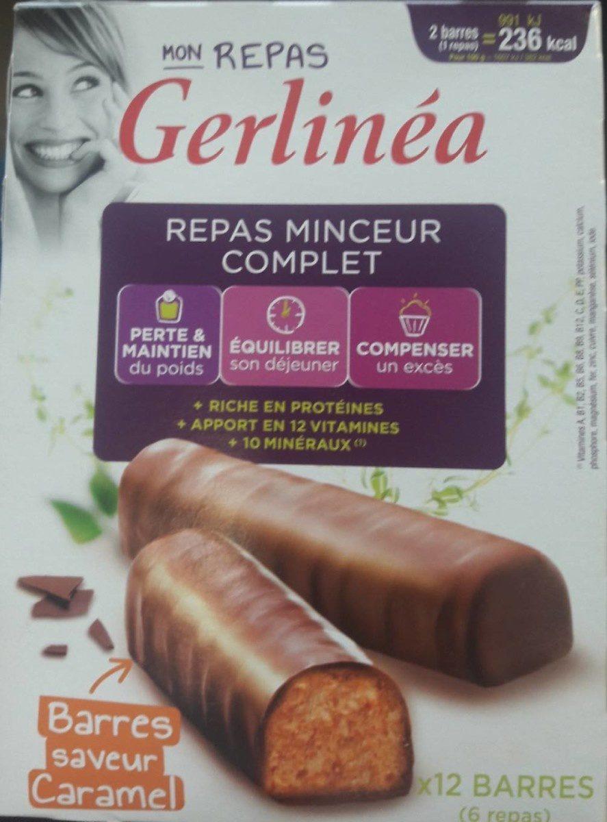 Mon repas Gerlinea barres Chocolat saveur Caramel - Produit