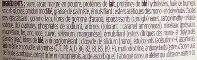 Crème saveur chocolat - Ingrédients - fr