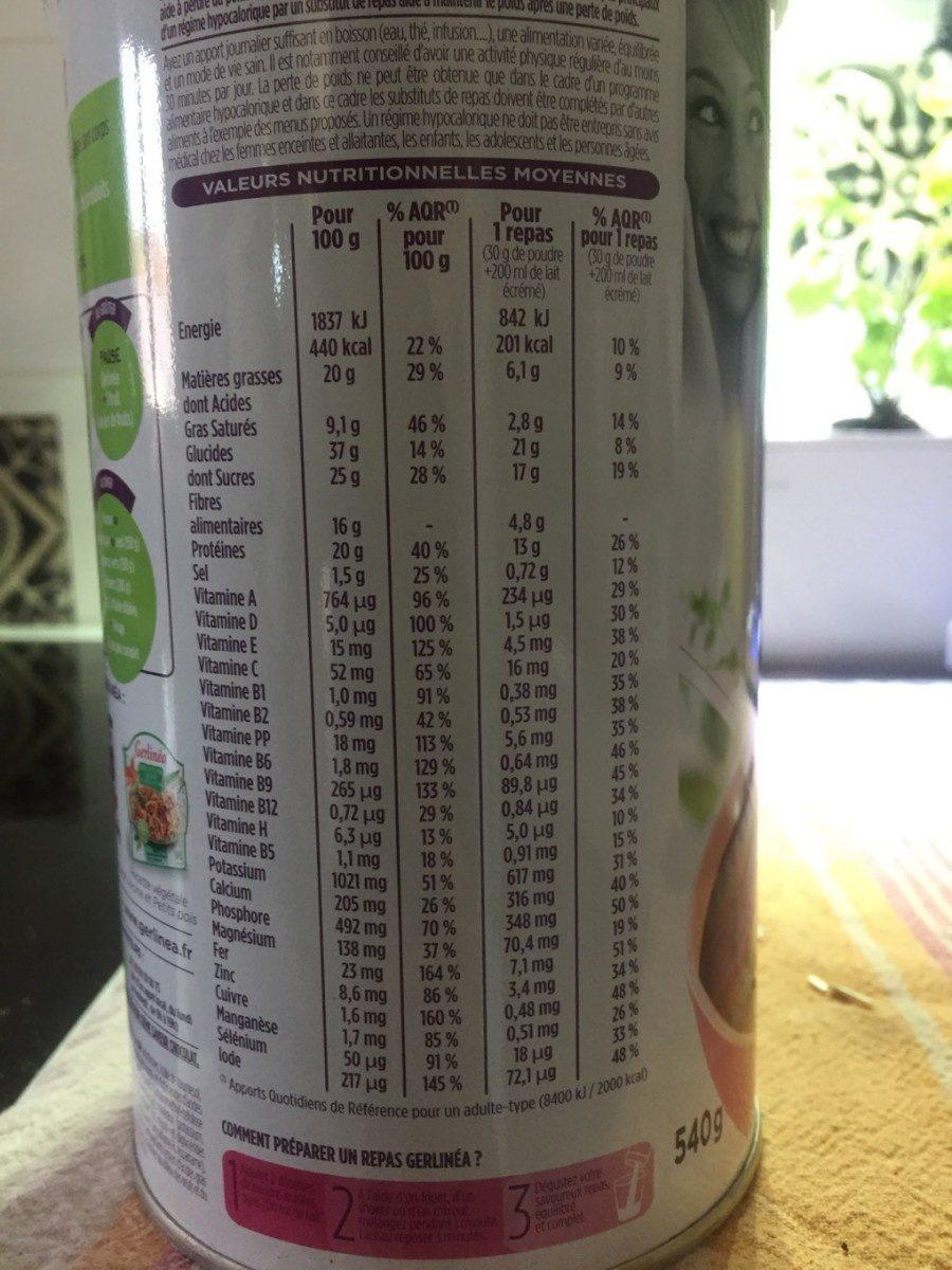 Crème saveur chocolat - Informations nutritionnelles - fr
