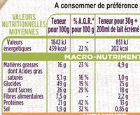 Crème saveur Chocolat - Nutrition facts - fr