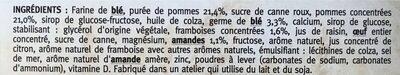 Fourré Pomme-Framboise-Amande - Ingredients