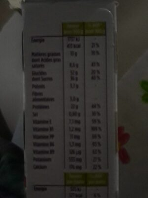 Barre HP chocolat - Nutrition facts - fr