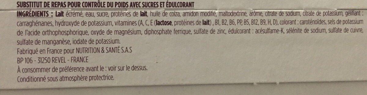 Repas saveur vanille caramel - Ingrédients - fr
