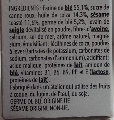Biscuit sésame Gerblé - Ingredienti - fr