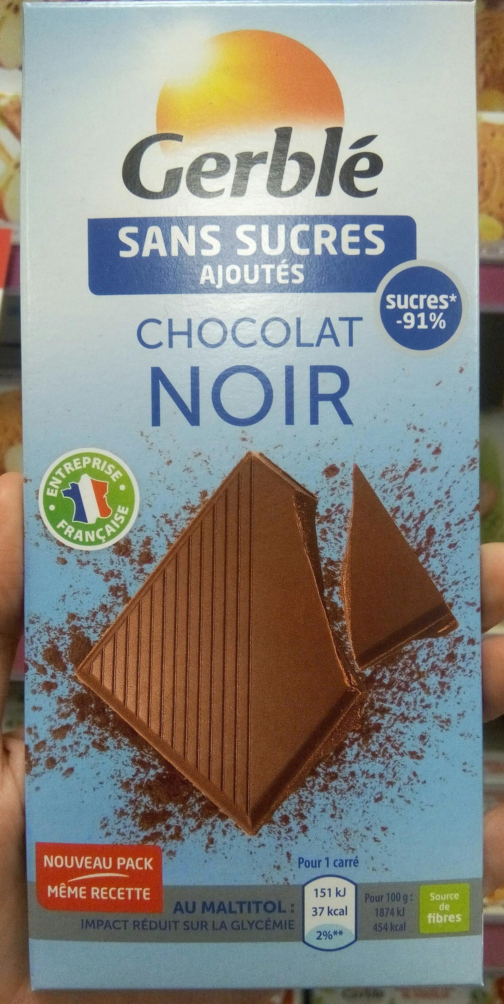 Chocolat Noir Sans Sucres Ajoutés - Product - fr