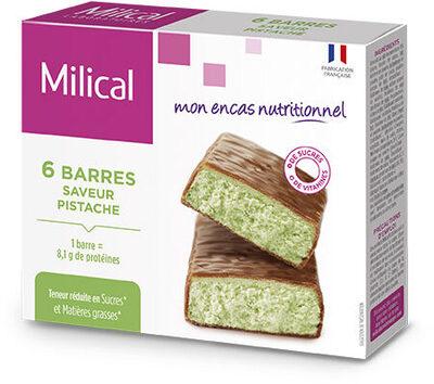 Milical - Barres HP Chocolat Pistache - étui 6 barres - Product