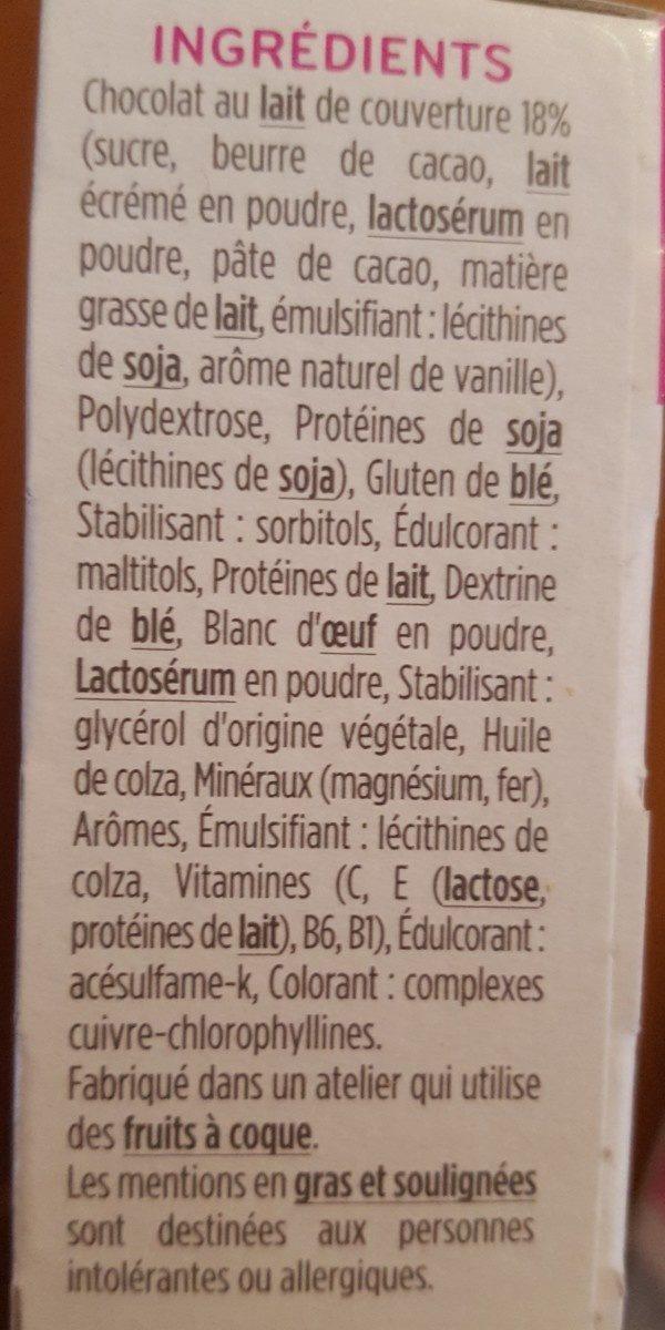 Milical - Barres HP Chocolat Pistache - étui 6 barres - Ingredients