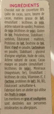 Milical - Barres HP chocolat - étui 6 barres - Ingrediënten - fr