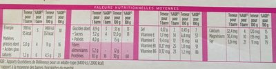 Milical - Barres HP chocolat - étui 6 barres - Voedingswaarden - fr