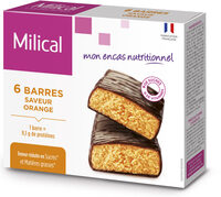 Milical - Barres HP Chocolat Orange - étui 6 barres - Product