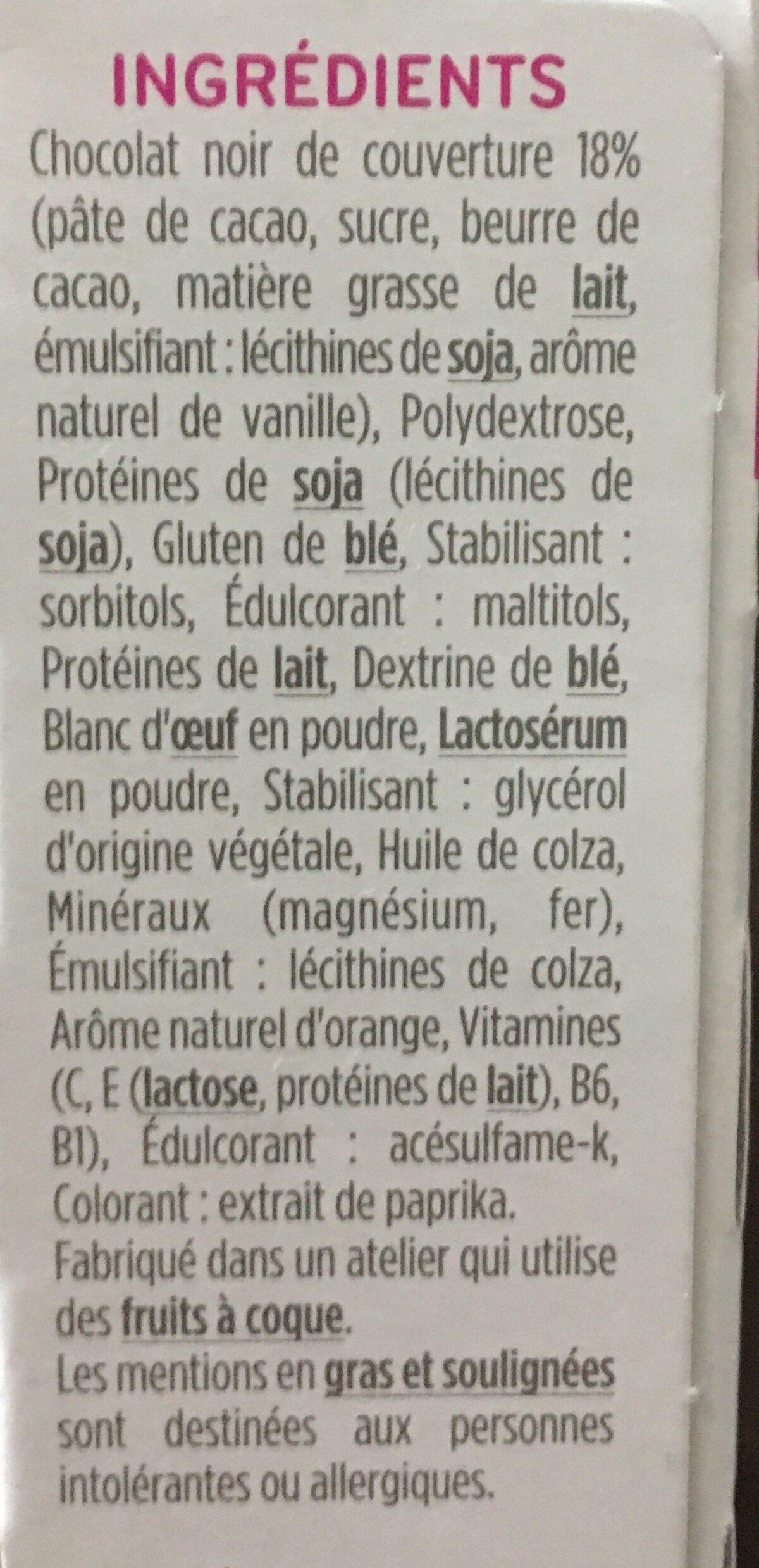 Milical - Barres HP Chocolat Orange - étui 6 barres - Ingrediënten