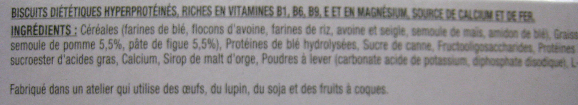 Biscuits saveur pomme figue - Ingrédients