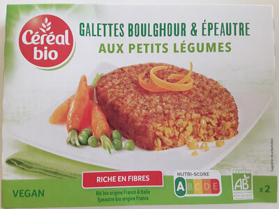 Galettes Boulghour et Épeautre aux petits légumes - Produit - fr