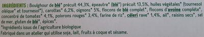 Galettes Epeautre et Boulghour aux petits légumes - Ingredients - fr