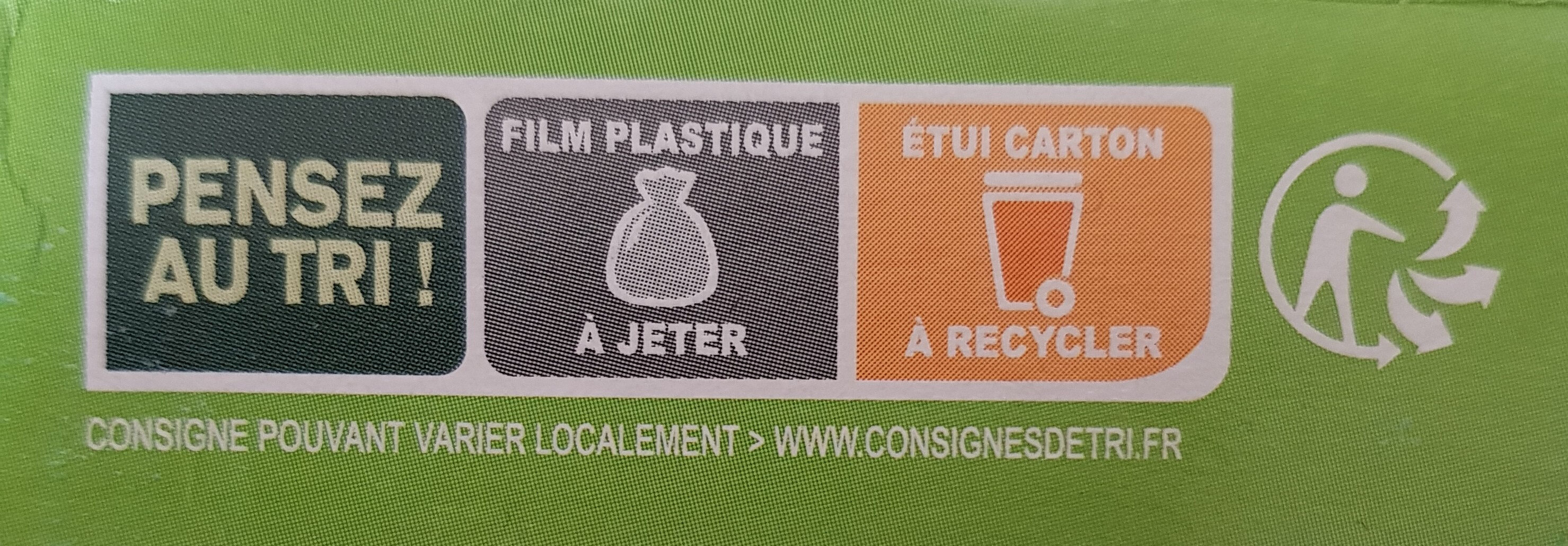 Galettes Epeautre et Boulghour aux petits légumes - Recycling instructions and/or packaging information - fr