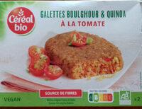 Galettes quinoa & boulghour à la tomate - Product - fr