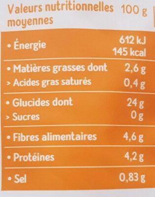 Boulghour fin Bio - 250 g - Céréal Bio - Valori nutrizionali - fr