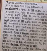 Biscuit lait chocolat Gerblé - Ingrédients - fr