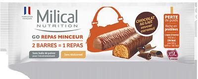 Milical Go - Barres Repas saveur chocolat caramel - Product