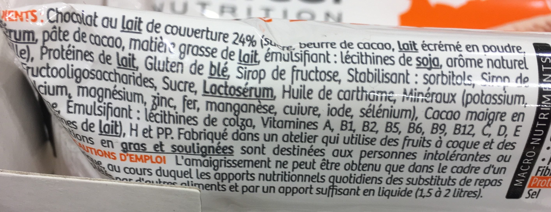 Milical Go - Barres Repas saveur chocolat caramel - Ingredients