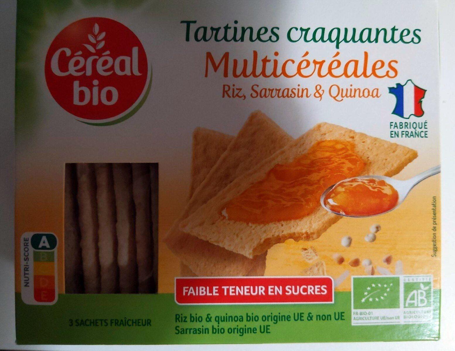 Tartines Craquantes Multicéréales - Riz, Sarrasin & Quinoa - Prodotto - fr