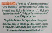 Tartines Craquantes Multicéréales - Riz, Sarrasin & Quinoa - Ingredienti - fr