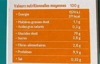 Tartine craquante multicereales - Información nutricional - en