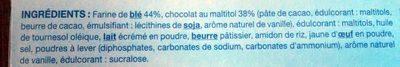 Biscuit choco fondant noir - Ingredients - fr