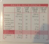 Milical Nutrition Saveur Café 12 Biscuits - Nutrition facts
