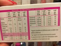 Biscuit Noisette - Nutrition facts