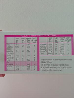 Milical - Fourré Vanille - Nutrition facts