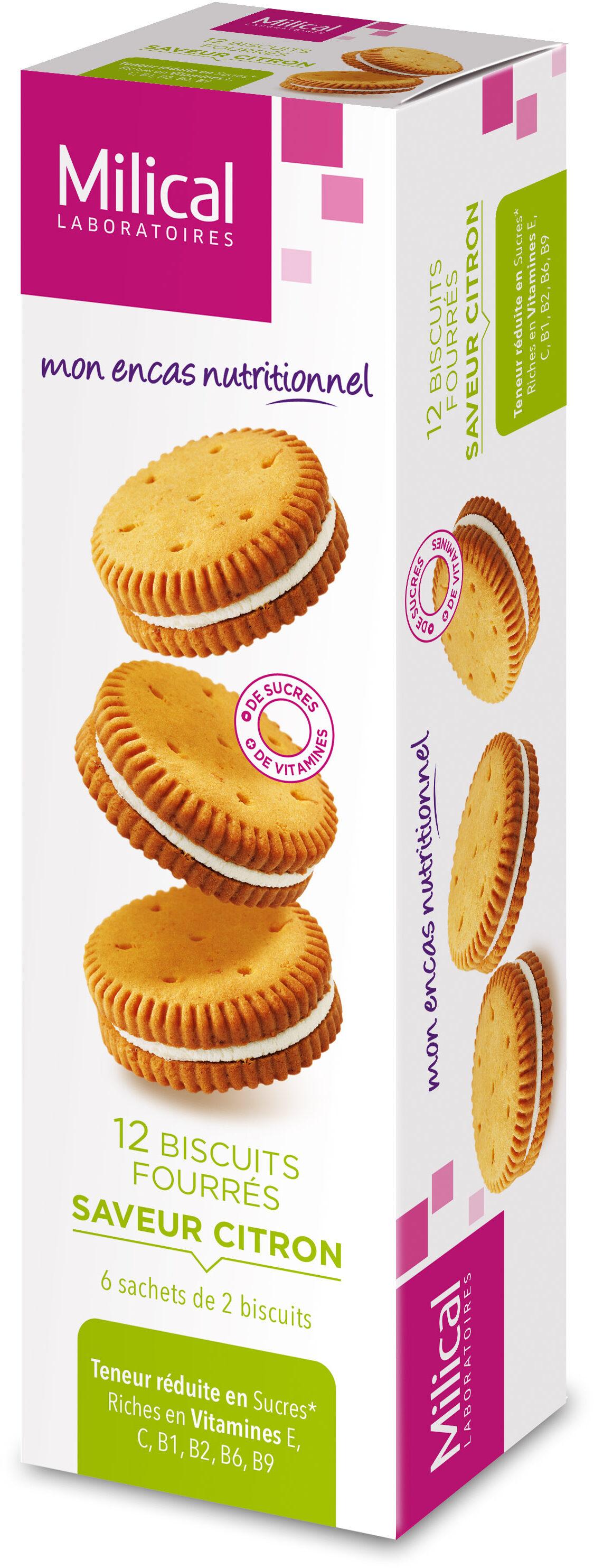 Milical Nutrition Saveur Citron 12 Biscuits - نتاج - fr