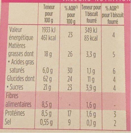 Milical Nutrition Saveur Citron 12 Biscuits - حقائق غذائية - fr