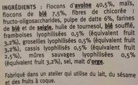 Crousti Muesli Fruits Rouges - Ingrediënten
