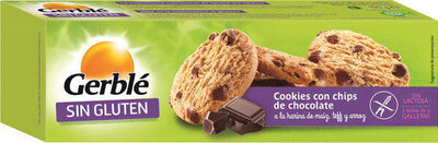 Cookies con chips de chocolate sin gluten - Produit - es