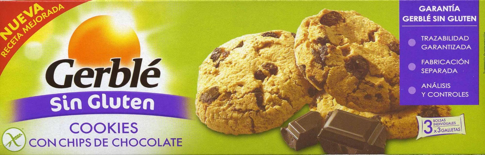 Cookies con chips de chocolate sin gluten - Producto - es